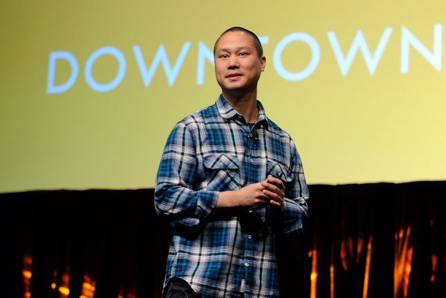 Former Zappos CEO Tony Hsieh, pictured at Caesars Palace in Las Vegas in 2014, died on Friday while visiting Connecticut. File Photo by David Becker/UPI