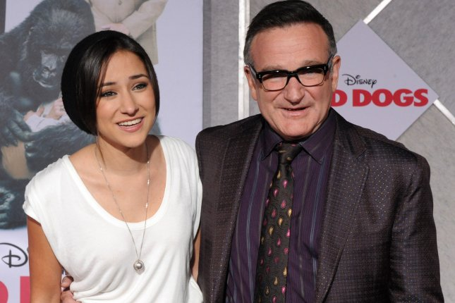 Actor Robin Williams attends the premiere of his new motion picture comedy Old Dogs with his daughter Zelda Williams in Los Angeles on Nov. 9, 2009. File Photo by Jim Ruymen/UPI