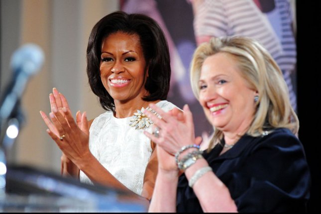Michelle Obama was named the most admired woman in the United States this year -- a title that was held by Hillary Clinton for nearly two decades. File Photo by Kevin Dietsch/UPI