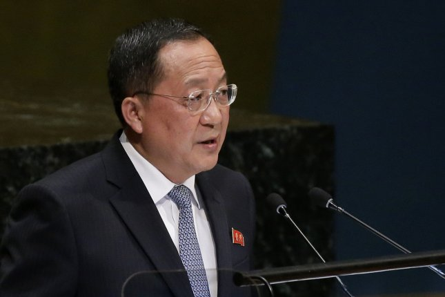 North Korean Foreign Minister Ri Yong Ho told reporters in Hanoi that his country only seeks the lifting of a portion of U.N. sanctions in exchange for nuclear concessions. File Photo by John Angelillo/UPI