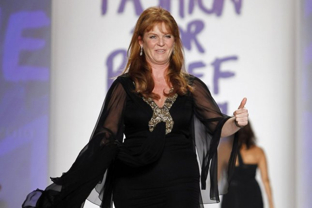 Sarah Ferguson, shown here in 2010, showed off her 50-pound weight loss at the London premiere of 'The Theory of Everything.' File Photo by John Angelillo/UPI