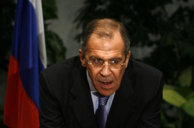 Russian Foreign Minister Sergei Lavrov prompted a wave of social media buzz this week after being filmed swearing under his breath during a Moscow press conference with his Saudi counterpart. File photo by UPI/Tomer Appelbaum