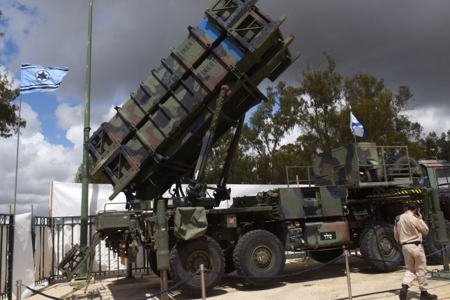 A Patriot defense system is displayed at an exhibition at the official launch ceremony on April 2 at the Hatzor Air Force base in central Israel. File Photo by Debbie Hill/UPI