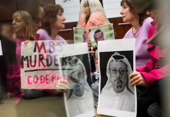 The Trump administration has barred 16 Saudi nationals from entering the country following pressure from Congress to act on the murder of Washington Post journalist Jamal Khashoggi. Photo by Kevin Dietsch/UPI