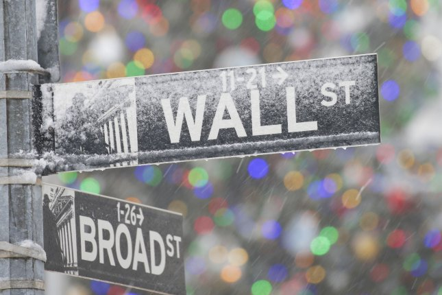 The S&P 500 dropped 0.39% on Monday amid a poor debut on the index from Tesla and concern over a new strain of COVID-19 reported in Europe. Photo by John Angelillo/UPI