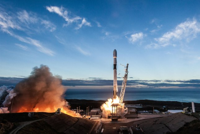 SpaceX launches a satellite for Iridium in January 2019 from Vandenberg Air Force Base in California. Photo courtesy of SpaceX