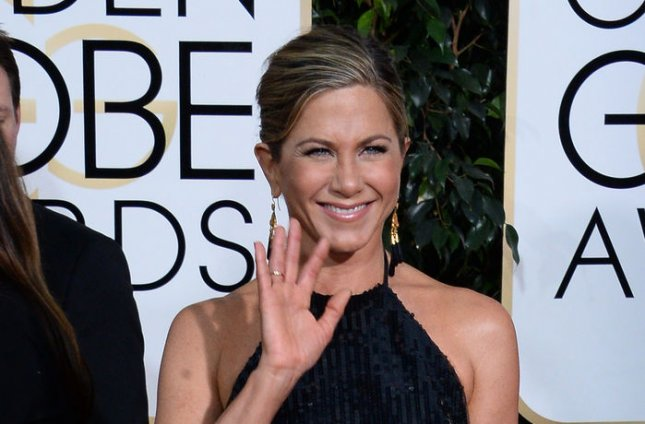 Actress Jennifer Aniston attends the 72nd annual Golden Globe Awards at the Beverly Hilton Hotel in Beverly Hills, California on January 11, 2015. Photo by Jim Ruymen/UPI