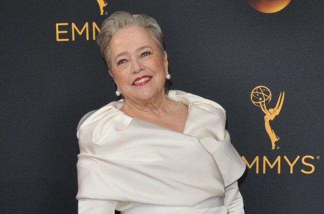 Kathy Bates performs That's What I Like by Bruno Mars on Lip Sync Battle. File Photo by Christine Chew/UPI