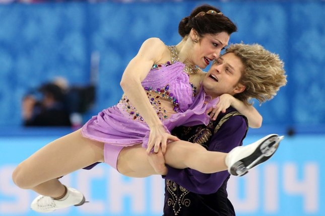 U.S. ice dancers Meryl Davis and Charlie White perform during their dance free dance during the Sochi Winter Olympics in 2014. The duo won the gold medal. File Photo by Maya Vidon-White/UPI