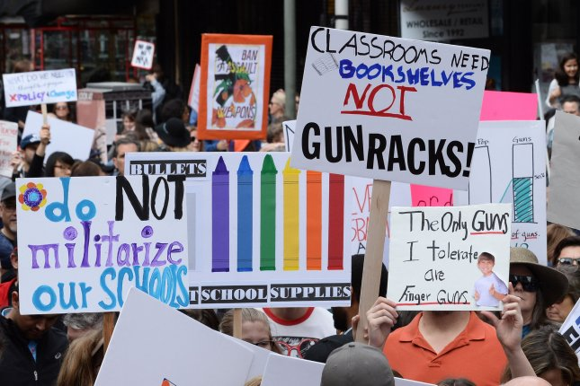 New Hampshire Gov. Chris Sununu's spokesman said he'll sign a law giving a $100,000 death benefit to the families of any teachers or school workers killed by violence in school. File Photo by Jim Ruymen/UPI