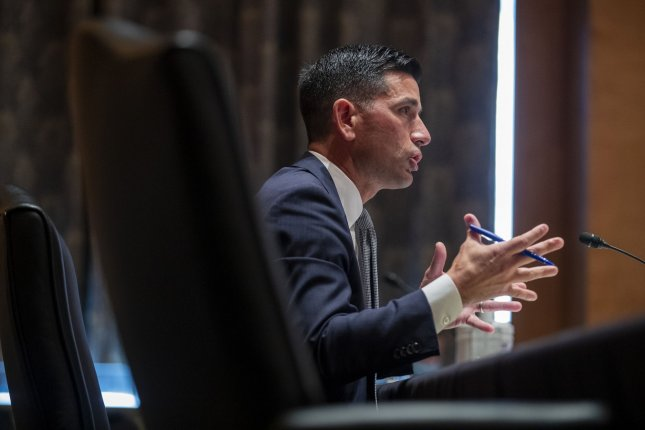 Acting Secretary of Homeland Security Chad Wolf testifies before the Senate homeland security and governmental affairs committee on September 23. On Wednesday, the department finalized a rule removing privacy protections from its insider threat program. Pool photo by Shawn Thew/UPI