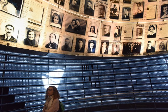A woman visits the Yad Vashem Holocaust Museum in Jerusalem, Israel, on January 24, 2019. File Photo by Debbie Hill/UPI