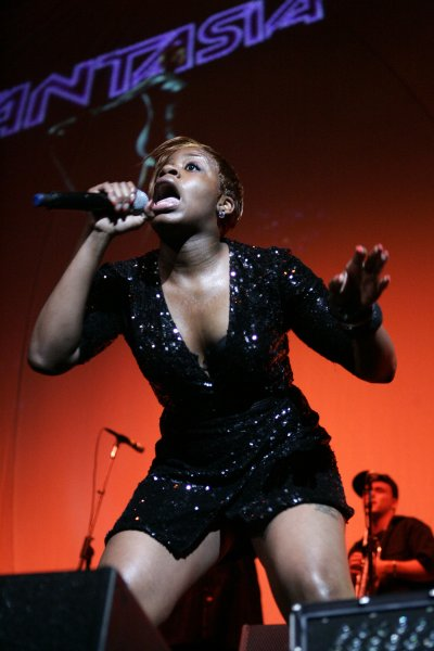 Fantasia performs in concert at the Bank Atlantic Center in Sunrise Florida on February 2, 2007. (UPI Photo/Michael Bush)