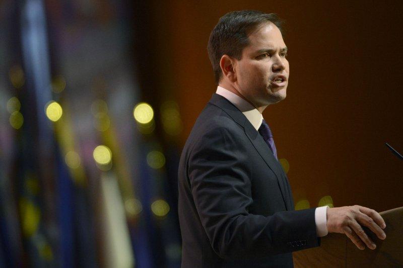 Senator Marco Rubio, R-Fla. UPI/Molly Riley