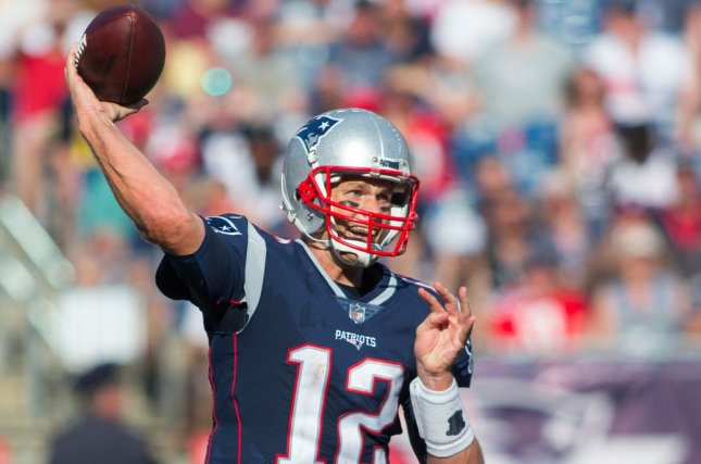 New England Patriots quarterback Tom Brady throws a pass in the fourth quarter against the Houston Texans at Gillette Stadium in Foxborough, Massachusetts on September 24, 2017. File photo by Matthew Healey/UPI