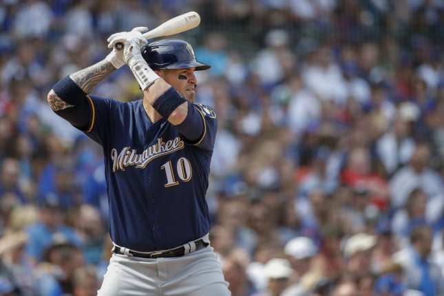 Former Milwaukee Brewers catcher Yasmani Grandal agreed to a four-year, $73 million contract with the Chicago White Sox. It is the biggest contract in franchise history. File Photo by Kamil Krzaczynski/UPI
