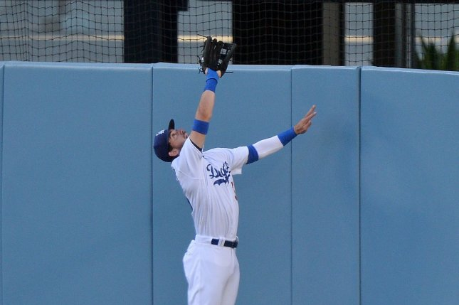 Los Angeles Dodgers center fielder Cody Bellinger hit a home run and robbed a home run during a win over the San Diego Padres on Wednesday in Arlington, Texas. File Photo by Jim Ruymen/UPI