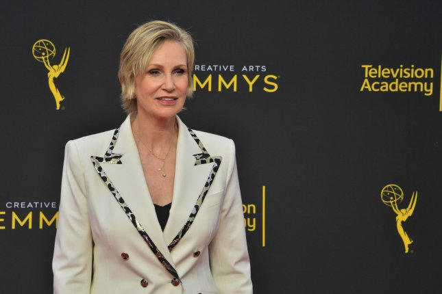 Jane Lynch attends the Creative Arts Emmy Awards at the Microsoft Theater in Los Angeles on September 15, 2019. The actor turns 61 on July 14. File Photo by Jim Ruymen/UPI