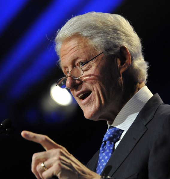 Former U.S. President Bill Clinton says a two-state solution is the only logical plan for Israel. file photo. UPI/Brian Kersey
