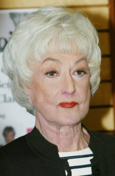 Actress Bea Arthur, seen in a November 22, 2005 file photo in New York City, died from cancer in Los Angeles at the age of 86 on April 25, 2009. (UPI Photo/Monika Graff/File)