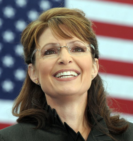 Alaska Gov. Sarah Palin campaigns for herself and Republican Presidential Nominee Sen. John McCain (AZ) at a rally in Leesburg, Virginia, on October 27, 2008 in a file photo. Palin announced she would resign at the end of July and not seek a second term on July 3, 2009. (UPI Photo/Roger L. Wollenberg)