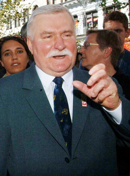 Nobel Peace Prize Laureate and former President of Poland Lech Walesa