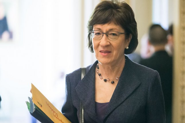 Sen. Susan Collins said a suspicious letter was sent to her home in Bangor, Maine, on Monday that claimed it contained the toxin ricin. File Photo by Erin Schaff/UPI