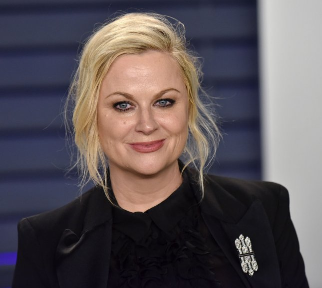 Amy Poehler took part in a Parks and Recreation reunion featuring the original cast of the show including Nick Offerman and Chris Pratt. File Photo by Christine Chew/UPI