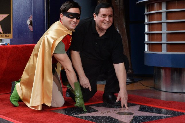 Actor Burt Ward, who played Robin on the Batman television series, received the 2,683rd star on the Hollywood Walk of Fame in Los Angeles on Thursday. Photo by Jim Ruymen/UPI