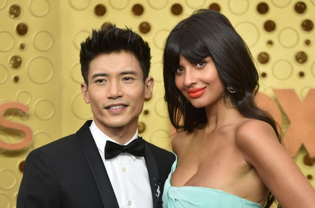 Manny Jacinto (L) and Jameela Jamil arrive for the 71st annual Primetime Emmy Awards on September 22. Jacinto is set to star in Hulu's Nine Perfect Strangers, alongside Nicole Kidman and Melissa McCarthy. File Photo by Christine Chew/UPI