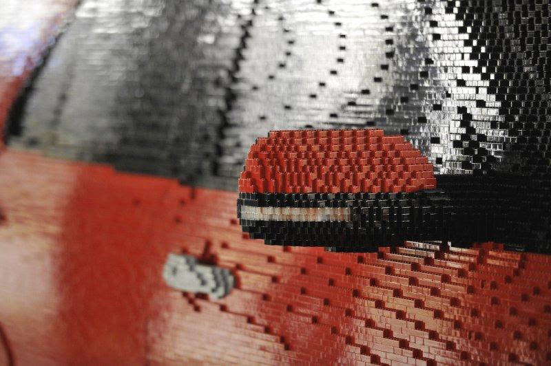 The LEGOLAND Florida Ford Explorer took a team of 22 designers more than 2,500 hours to create out of 380,000 LEGO bricks. (File/UPI/Brian Kersey)