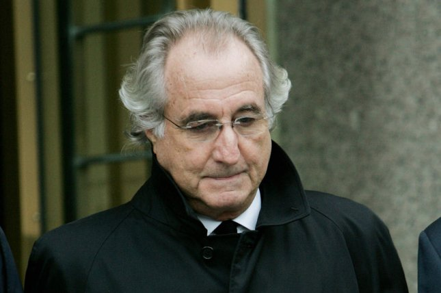 Andrew Madoff, the son of disgraced Ponzi scheme Bernard Madoff pictured here, died Wednesday after a battle with cancer. (UPI Photo/Monika Graff)