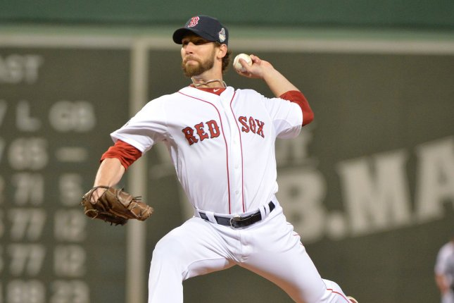 Boston Red Sox pitcher Craig Breslow. UPI/Kevin Dietsch