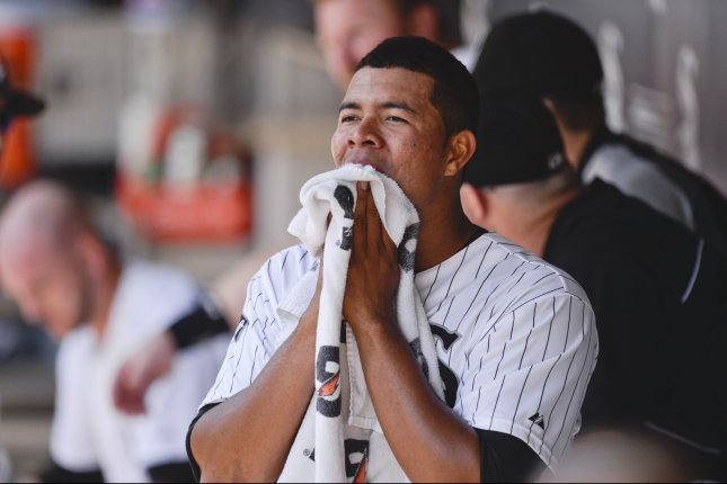 Chicago White Sox starting pitcher Jose Quintana. UPI/Brian Kersey