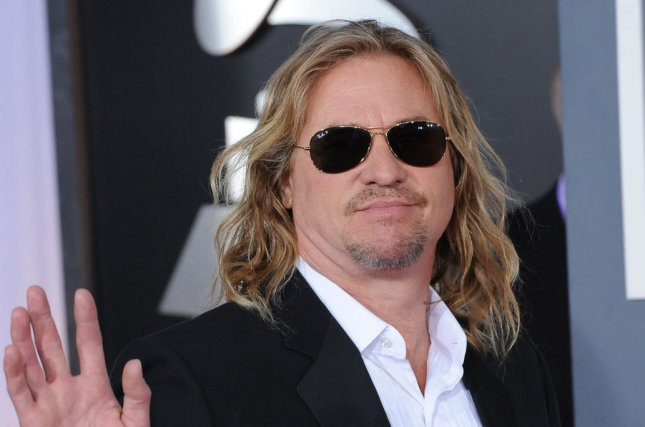 Val Kilmer arrives at the 54th annual Grammy Awards on February 12, 2012. The actor is ready to reprise the role of Iceman in a Top Gun sequel. File Photo by Jim Ruymen/UPI