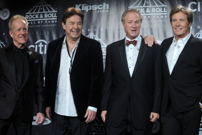 From left to right, James Pankow, Walter Parazaider, Lee Loughnane and Robert Lamm of Chicago. The band will receive a Grammy Lifetime Achievement Award, along with Public Enemy, Iggy Pop, Sister Rosetta Tharpe and more. File Photo by Dennis Van Tine/UPI