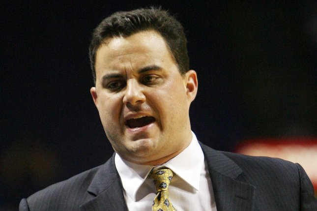 The NCAA has charged Arizona men's basketball coach Sean Miller (pictured) and women's swimming and diving coach Augie Busch with a lack of head coach control. File photo by Bill Greenblatt/UPI
