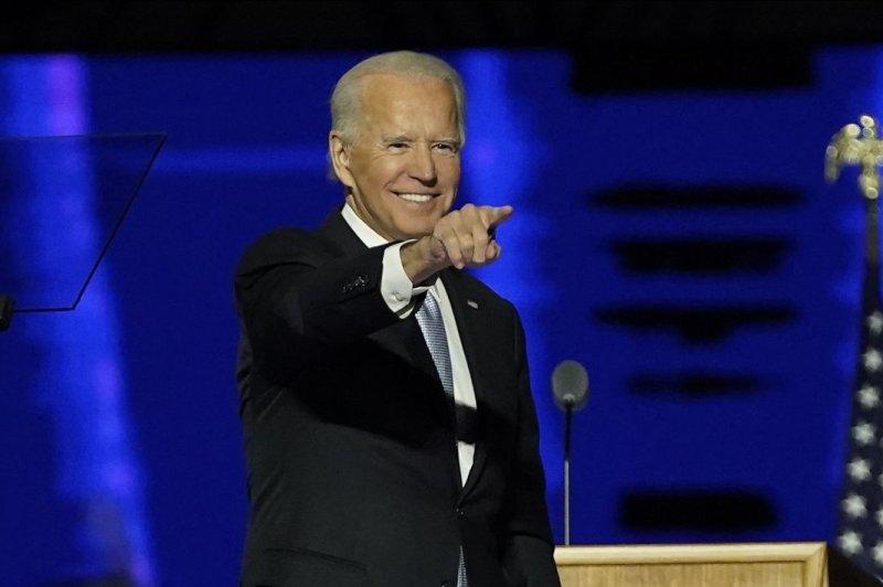 President-elect Joe Biden speaks on November 7 at the Chase Center in Wilmington, Del. Biden turns 78 on November 20. Photo by Andrew Harnik/UPI