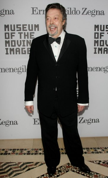 Tim Curry arrives at the Museum of the Moving Image on February 28, 2011, in New York City. The actor turns 75 on April 19. File Photo by Monika Graff/UPI