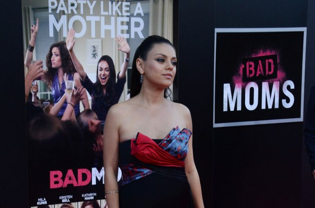 Cast member Mila Kunis attends the premiere of the motion picture comedy Bad Moms in Los Angeles on July 26, 2016. Photo by Jim Ruymen/UPI