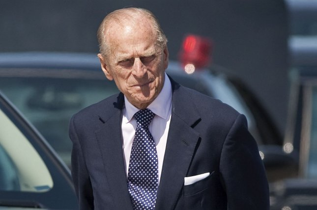Great Britain's Prince Philip arrives at Macdonald Cartier International airport in Ottawa, Ontario, on July 3, 2010. Philip will be making his final public engagement Wednesday. File Photo by Heinz Ruckemann/UPI