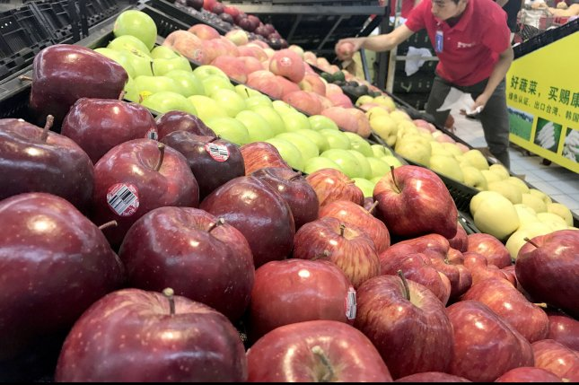 Australian authorities said Tuesday a needle scare, which involves someone putting the sharp objects in strawberries, has grown to include possibly apples and bananas. File Photo by Stephen Shaver/UPI