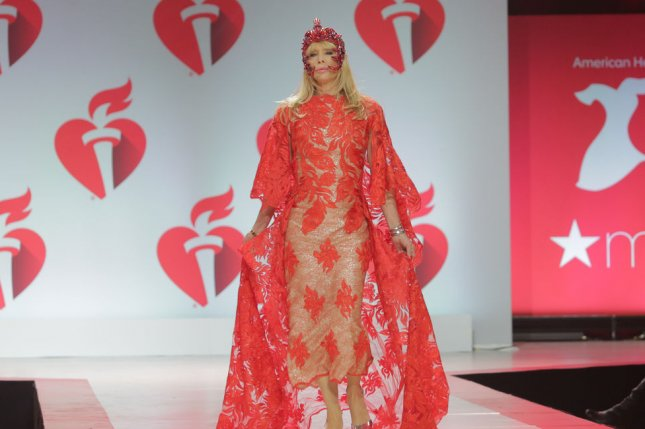 Ratched co-star Rosanna Arquette walks on the runway at the 15th Annual Red Dress Collection fashion show on Thursday in New York City. Photo by Serena Xu-Ning/UPI