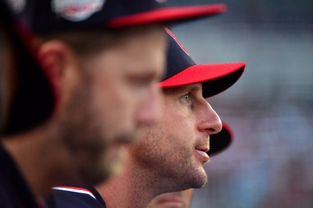 Washington Nationals ace Max Scherzer has earned six consecutive All-Star selections. He won back-to-back Cy Young Awards in 2016 and 2017, before finishing in second for the award in 2018. File Photo by Kevin Dietsch/UPI