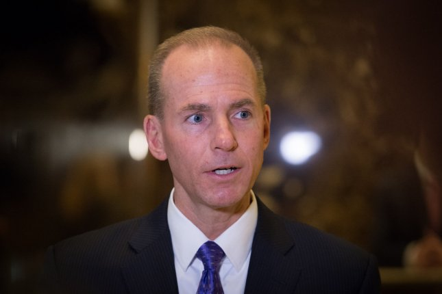 Boeing CEO Dennis A. Muilenburg lost his role as chairman in a company shift to focus on the 737 Max crisis. File Photo by Bryan R. Smith/UPI