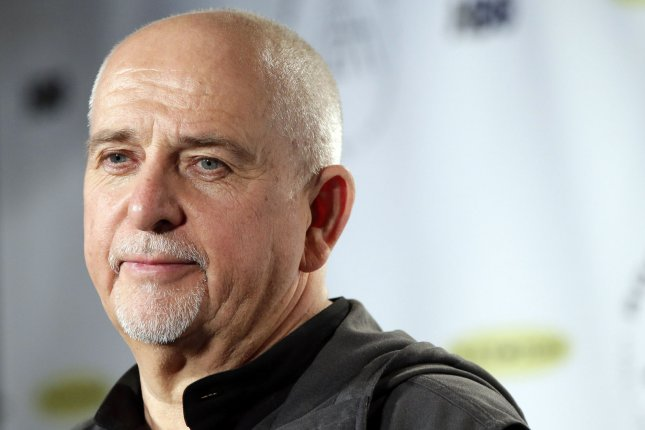 Peter Gabriel arrives in the press room after being inducted at the 29th annual Rock and Roll Hall of Fame induction ceremonies at Barclays Center in New York City on April 10, 2014. The musician turns 70 on February 13. File Photo by John Angelillo/UPI