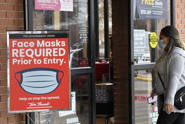 Walmart and other major U.S. retailers announced plans to lift mask requirements for vaccinated customers and employees after the CDC altered its guidance on face coverings last week. File Photo byIan Halperin/UPI.