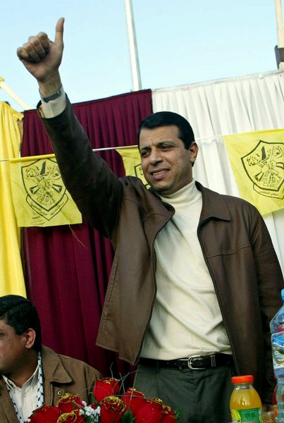 Former Fatah security chief Mohammed Dahlan is suspected of smuggling Israeli weapons to Libyan strongman Moammar Gadhafi. (UPI Photo/Ismael Mohamad) ..