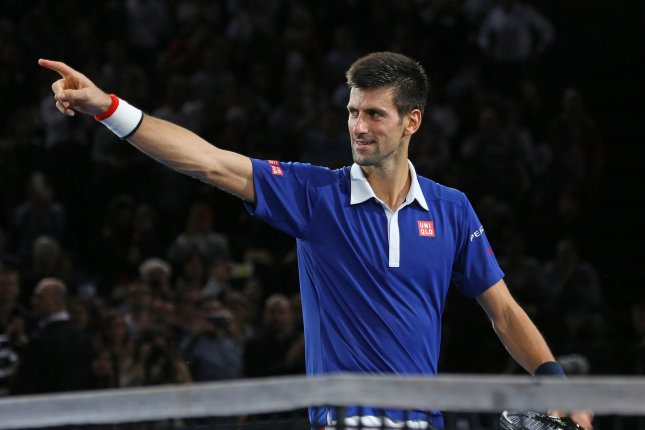 Novak Djokovic of Serbia. Photo by David Silpa/UPI
