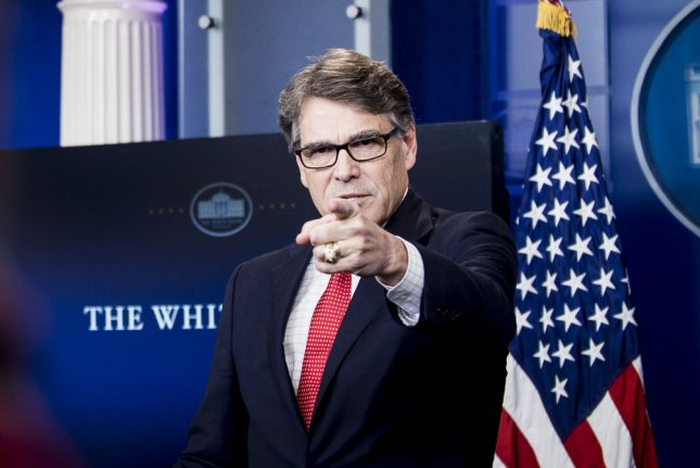 U.S. Secretary of Energy Rick Perry says an energy dominant United States is one that's largely self-reliant. Total U.S. crude oil imports are down by about 2 percent from last year. Photo by Pete Marovich/UPI